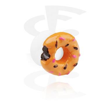 White Flared Plug with 3D Donut