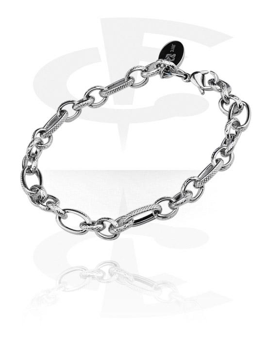 Armbånd med amuletter, Bracelet for Charms, Surgical Steel 316L