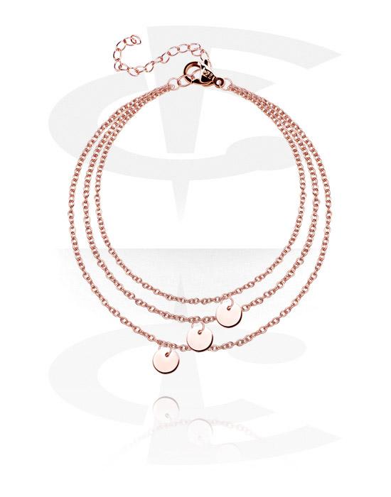 Armbånd, Fashion Bracelet, Rosegold Plated Surgical Steel 316L