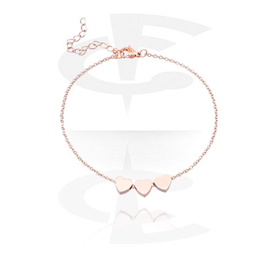 Bracelets, Fashion Bracelet, Rosegold-Plated Steel