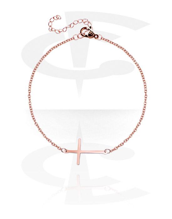 Armbanden, Armband, Met roségoud verguld chirurgisch staal