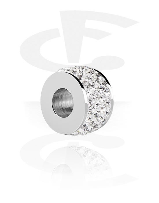 Perler, Bead for Bead Bracelet med crystal stones, Surgical Steel 316L