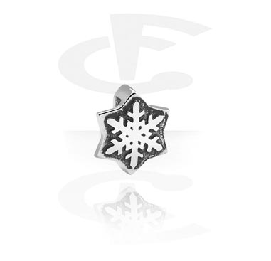 Flatbeads, Flatbead with Winter Design, Surgical Steel 316L