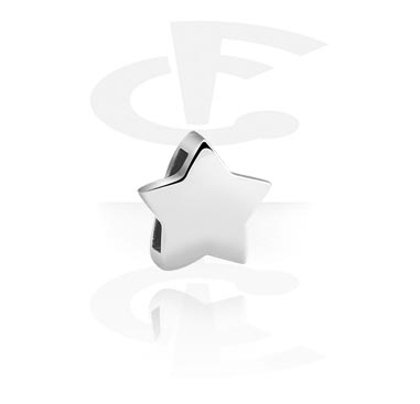 Flatbeads, Flatbead for Flatbead Bracelets with star design, Surgical Steel 316L