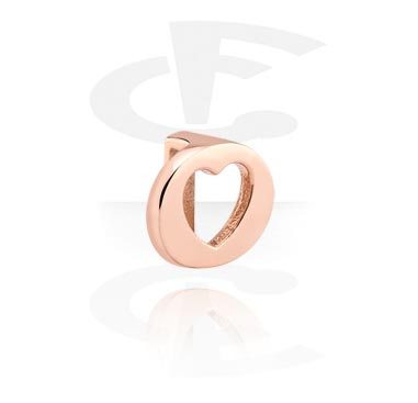 Flatbeads, Flatbead, Rosegold Plated Steel