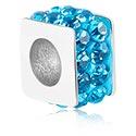 Beads, Perle avec motif hivernal, Acier chirurgical 316L