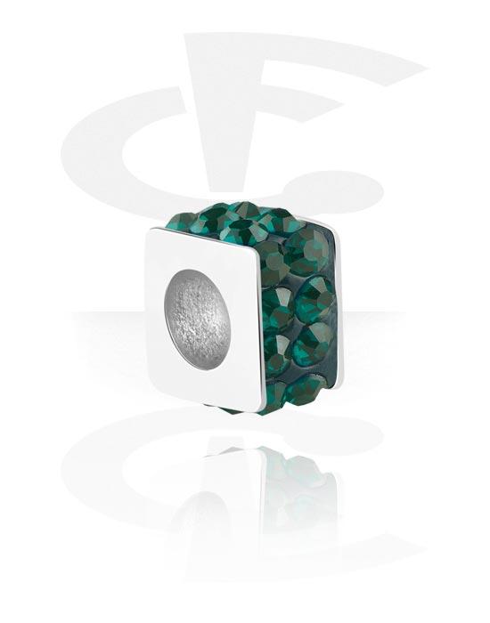 Koraliki, Bead for Bead Bracelet z crystal stones, Stal chirurgiczna 316L