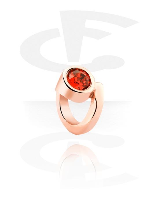 Korálky, Bead for Bead Bracelet s crystal stone, Chirurgická ocel 316L pozlacená růžovým zlatem