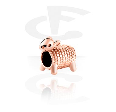 Beads, Bead for Bead Bracelets, Rosegold Plated Surgical Steel 316L