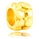 Perlice, Bead, Gold Plated Surgical Steel
