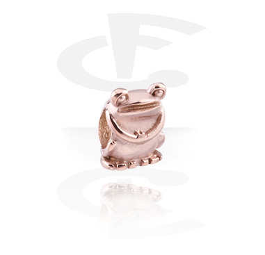 Beads, Bead, Rosegold-Plated Steel