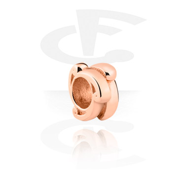 Beads, Bead for Bead Bracelets, Rosegold Plated Surgical Steel 316L ,  Rosegold Plated Steel