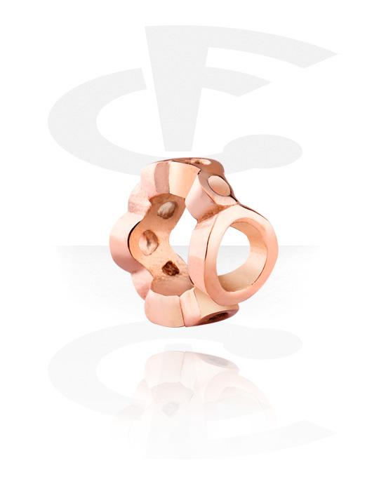 Koraliki, Bead for Bead Bracelet, Stal chirurgiczna powlekana różowym złotem 316L