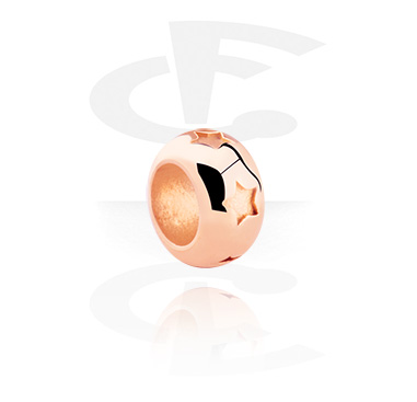 Beads, Bead, Rosegold Plated Steel