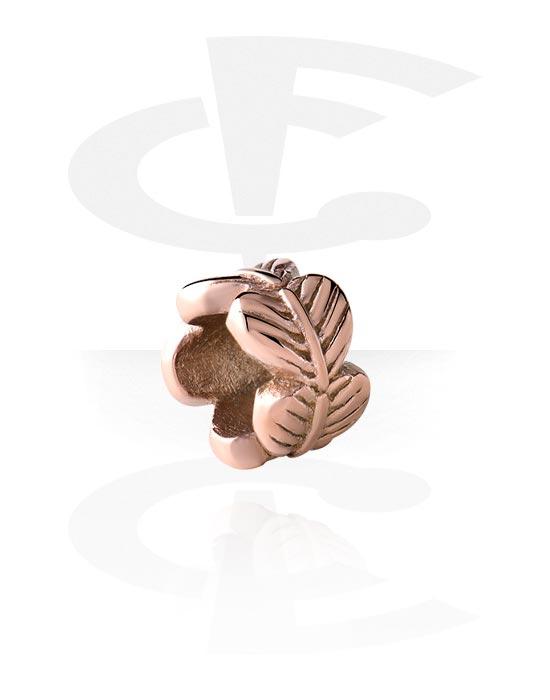 Korálky, Bead for Bead Bracelet, Chirurgická ocel 316L pozlacená růžovým zlatem