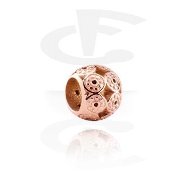 Cuentas, Cuenta para pulsera de cuentas, Acero quirúrgico 316L chapado en oro rosa
