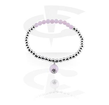Bracelets, Natural Stone Bracelet, Rose Quartz, Elastic Band
