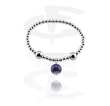 Bracelets, Natural Stone Bracelet, Lapis, Elastic Band