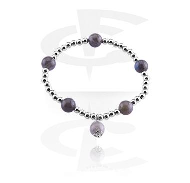 Bracelets, Natural Stone Bracelet, Moon Stone, Elastic Band