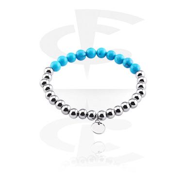 Bracelets, Natural Stone Bracelet, Turqouise, Elastic Band
