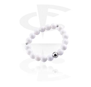 Bracelets, Natural Stone Bracelet, White Jade, Elastic Band