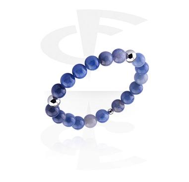 Bracelets, Natural Stone Bracelet, Sodalite, Elastic Band