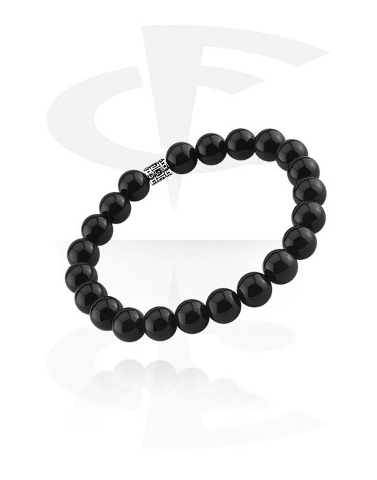 Náramky, Natural Stone Bracelet, Černý achát