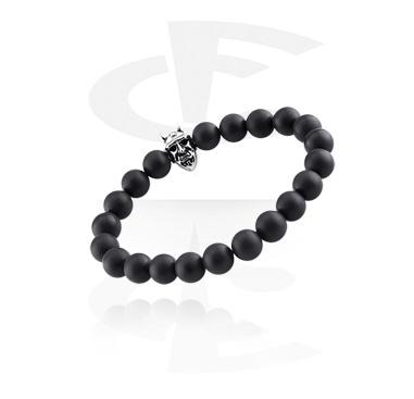 Bracelets, Natural Stone Bracelet, WhiteHowlite, Elastic Band