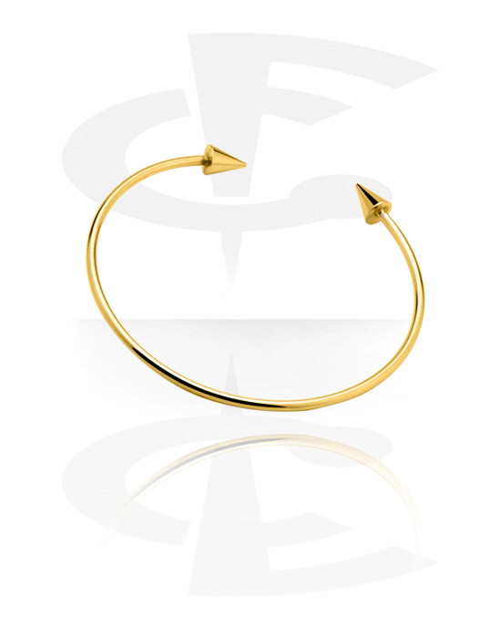 Armbänder, Modischer Armreif, Vergoldetes Messing, Vergoldeter Chirurgenstahl 316L