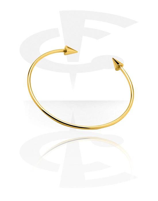 Armbanden, Armband, Vergulde messing, Verguld chirurgisch staal 316L