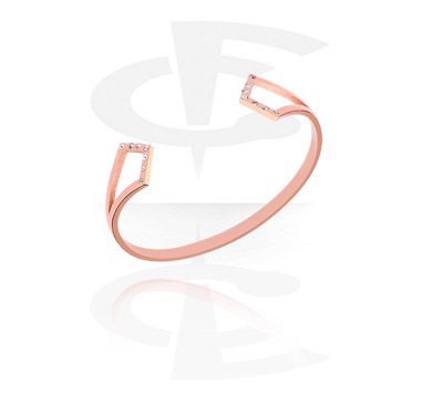 Bransolety, Fashion Bracelet, Rose Gold Plated Steel