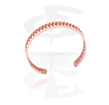 Bracelets, Fashion Bangle, Rosegold-Plated Steel
