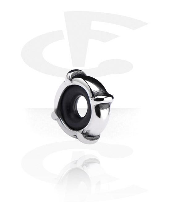 Beads, Stopper für Bead-Armbänder, Chirurgenstahl 316L, Silikon