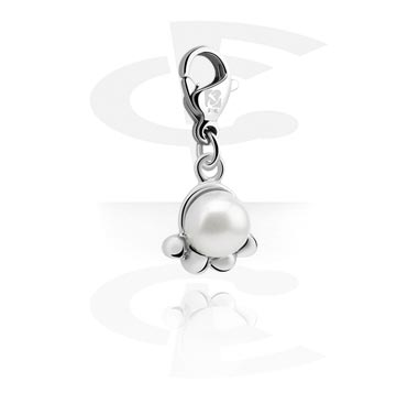 Charms, Charm with Pearl, Surgical Steel 316L