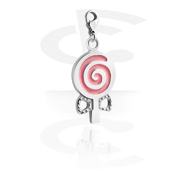 Charms, Charm with Lollipop Design, Surgical Steel 316L
