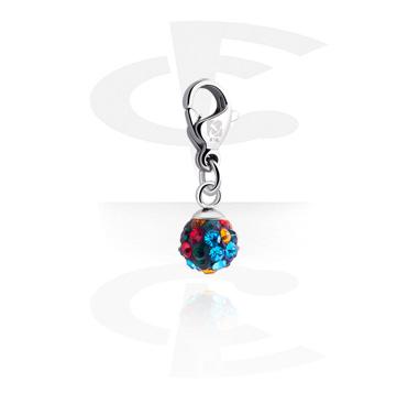 Náramky s přívěšky, Charm s crystal stones, Surgical Steel 316L