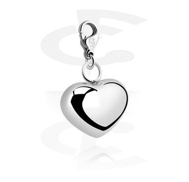 Narukvice s privjescima, Charm s Heart Design, Surgical Steel 316L