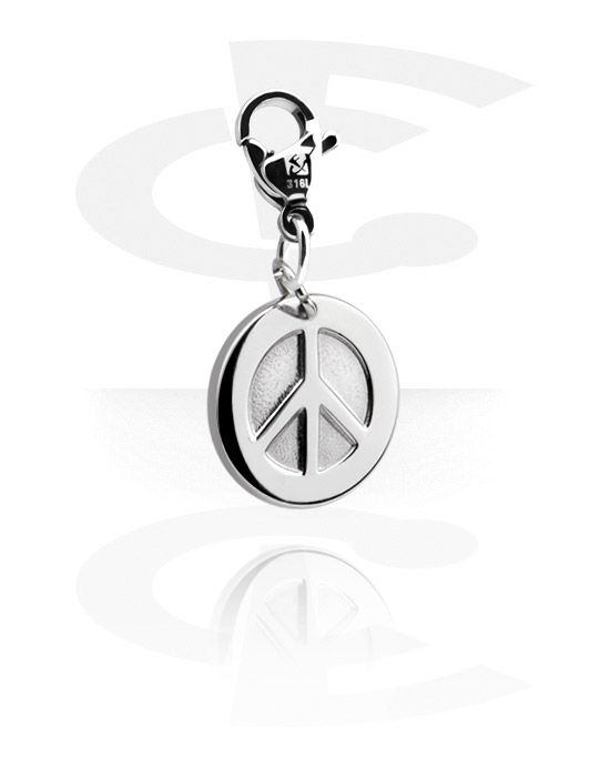 Bettelarmbänder, Anhänger mit Peace-Design, Chirurgenstahl 316L