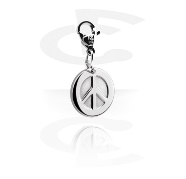 Charms, Charm with Peace Design, Surgical Steel 316L
