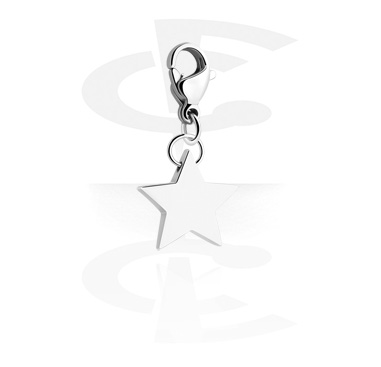 Charms, Charm with star design, Surgical Steel 316L