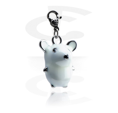 Charms, Charm with Mouse, Surgical Steel 316L