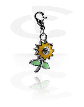 Náramky s přívěšky, Charm s flower design, Surgical Steel 316L
