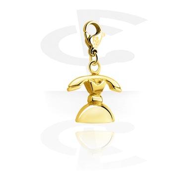 Náramky s přívěšky, Charm for Charm Bracelets, Gold Plated Steel