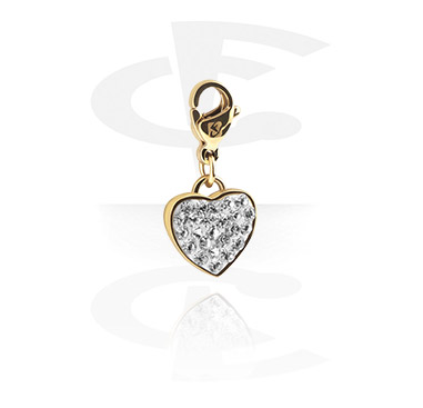 Charms, Charm for Charm Bracelets, Gold-Plated Surgical Steel