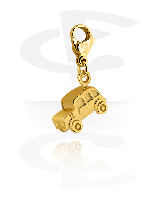 Ciondoli, Ciondolo per bracciale, Acciaio chirurgico 316L con placcatura in oro