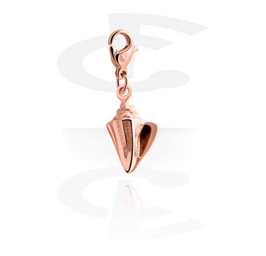 Pulseras y Colgantes, Colgante para pulseras de colgantes, Acero quirúrgico 316L chapado en oro rosa