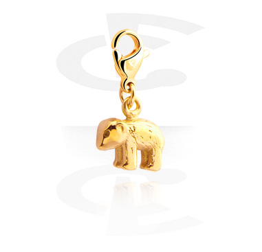 Charms, Charm for Charm Bracelet, Gold Plated Surgical Steel 316L