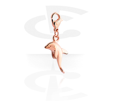 Charms, Charm for Charm Bracelet, Rosegold Plated Surgical Steel 316L