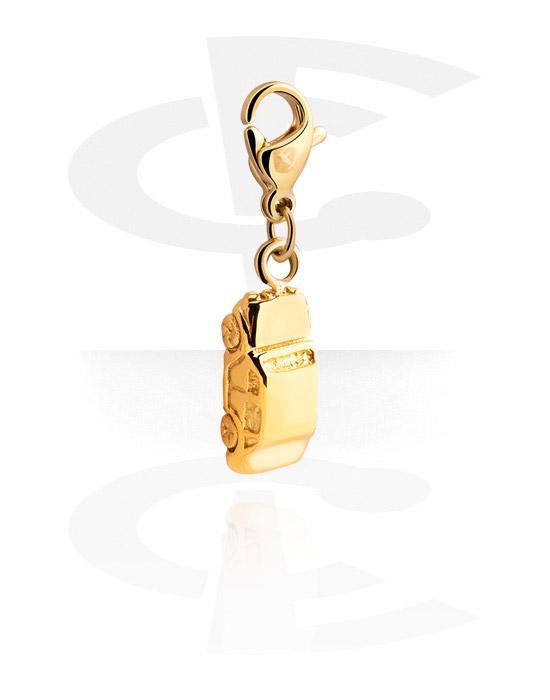 Ciondoli, Ciondolo per bracciale, Acciaio chirurgico 316L dorato