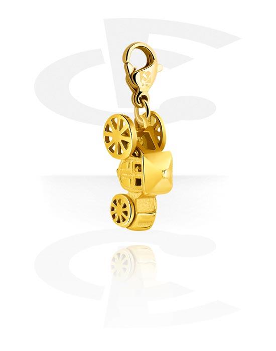 Náramky s přívěšky, Charm for Charm Bracelet, Pozlacená chirurgická ocel 316L